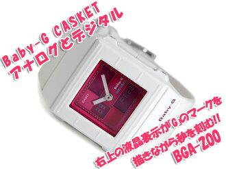 CASIO baby-g Casket Casio baby G casket an analog-digital watch Pink White BGA-200-7E3D BGA-200-7E3DR
