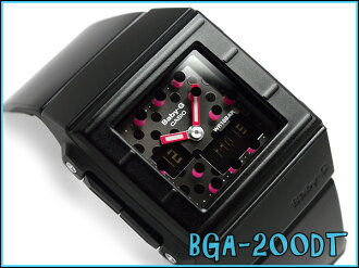 + Casio baby G CASKET casket an analog-digital watch dot pattern Black Silver Pink BGA-200DT-1EJF