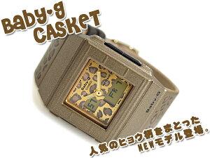 CASIO Baby-G Casket カシオ ベビーG カスケット アナデジ腕時計 ヒョウ柄 ゴールド BGA-200LP-...
