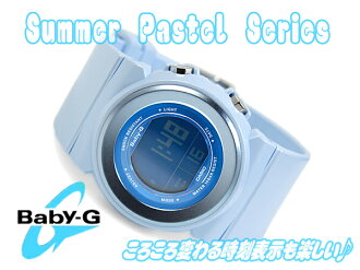 CASIO Baby-G Summer Pastel Casio baby G summer pastel digital watch blue BGD-100-2DR BGD-100-2 fs3gm