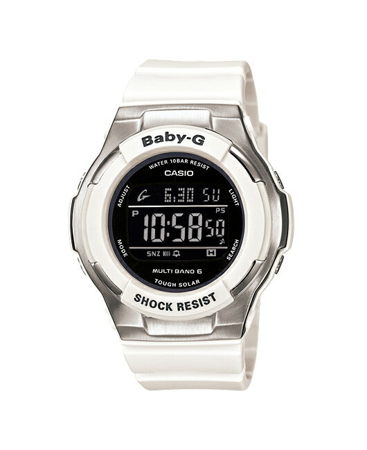 + Casio baby G watches Tripper Tripper Reef reef radio solar black white BGD-1300-7BJF