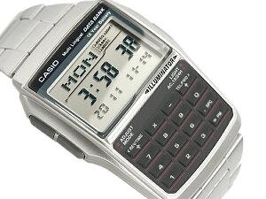 CASIO カシオ DATABANK カシオデータバンク 電卓機能 デジタル腕時計 逆輸入海外モデル シルバ...