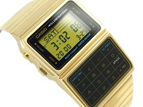 【送料無料!+ポイント3倍以上!!】CASIODATABANKカシオデータバンク電卓機能デジタル腕時計逆輸入海外モデルゴールドブラックDBC-611G-1
