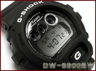 Reimport foreign model Casio G shock digital mens watch garish black DW-6900BW-1DR