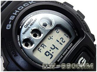 + CASIO g-shock Casio reimport G shock overseas model metallic dial series Watch Black / Silver DW-6900HM-1DR