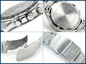 【CASIOEDIFICE】カシオ海外モデルエディフィスクロノグラフメンズ腕時計ブラックダイアルシルバーステンレスベルトEF-547D-1A1VDF