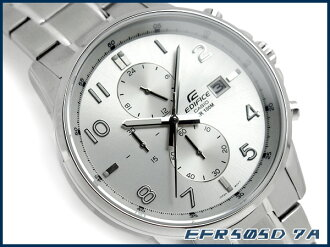 + Casio Japan not released overseas model edifice analog chronograph mens Watch Silver Dial stainless steel belt EFR-505D-7AVDF