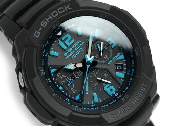 Casio G-shock cockpit sky overseas model tough solar mens Chronograph Watch Black x blue G-1200BD-1ADR