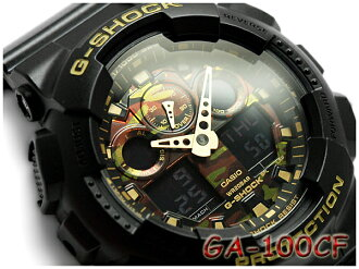 Pat Casio G-Shock reimportation foreign countries model camouflage dial series limited a; diwatch gold black GA-100CF-1A9CR GA-100CF-1A9DR GA-100CF-1A9