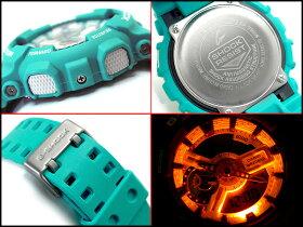 【送料無料!+ポイント2倍以上!!】【CASIOG-SHOCK】カシオ逆輸入Gショック海外モデルデジタル腕時計BreezyColorsブリージーカラーズエメラルドブルーウレタンベルトGA-110SN-3ADR