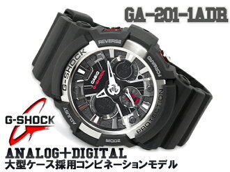 G-shock G shock 6600 g-shock g shock an analog-digital watch black matte silver GA-200-1ADR