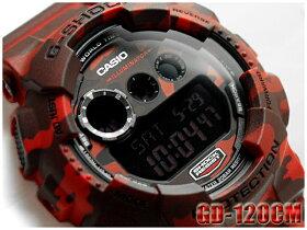 【ポイント2倍!!+全商品送料無料!!】【CASIOG-SHOCK】カシオGショック逆輸入海外モデル限定モデルカモフラージュシリーズデジタル腕時計カモフラ柄レッドGD-120CM-4CRGD-120CM-4DRGD-120CM-4【】