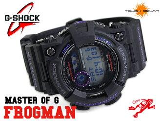 "G-shock G shock ""CASIO Casio FROGMAN Frogman solar digital watch purple black GF-1000BP-1DR"