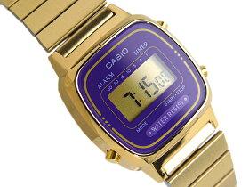 【送料無料】CASIOカシオスタンダードモデルデジタルレディース腕時計逆輸入海外モデルパープルゴールドLA-670WGA-6DF