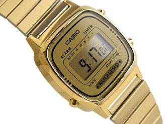 CASIO Casio standard model digital ladies watch imports overseas model gold LA-670WGA-9DF
