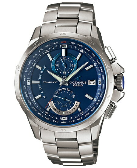 + Oceanus OCEANUS CASIO Casio wave solar analog watches blue silver OCW-T1000F-2AJF domestic genuine