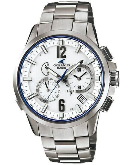 Osh holes OCEANUS CASIO Casio electric wave solar analog watch white silver OCW-T2000-7AJF domestic regular article fs3gm