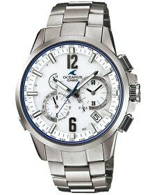 オシアナスOCEANUSCASIOカシオ電波ソーラーアナログ腕時計ホワイトシルバーOCW-T2000-7AJF国内正規品