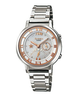 Casio scene ladies watch solar white silver SHE-3501SBD-7AJF