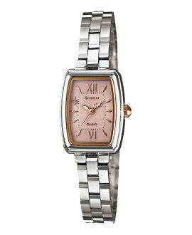 Casio scene Lady's watch solar pink silver SHE-4504SBD-4AJF fs3gm