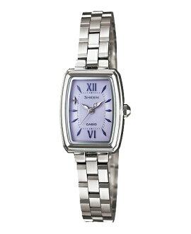 Casio scene Lady's watch solar purple silver SHE-4504SBD-6AJF