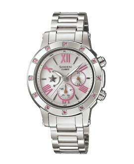 CASIO SHEEN] CASIO scene ladies watch radio solar Pink Silver SHN-7504D-7AJF