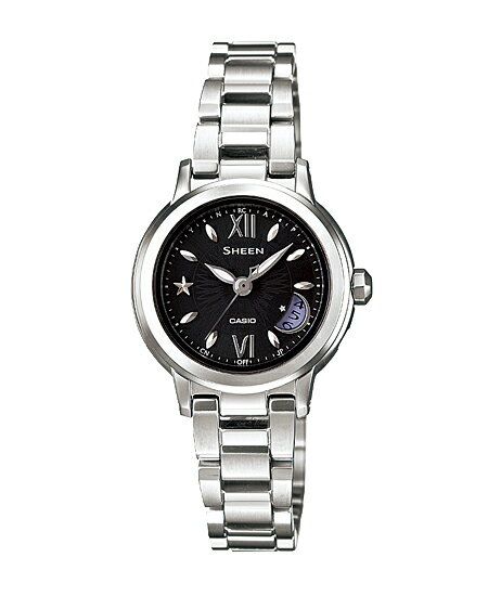 Casio scene ladies wristwatch radio solar Black Silver SHW-1500D-1AJF