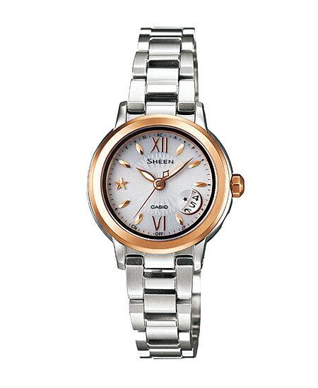 Casio scene Lady's watch electric wave solar white X gold SHW-1500GD-7AJF