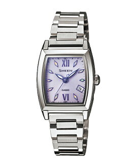 Casio scene ladies wristwatch radio solar purple silver SHW-1503D-6AJF