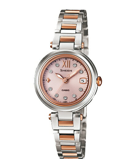 Casio scene Lady's watch electric wave solar pink silver SHW-1504SG-4AJF fs3gm