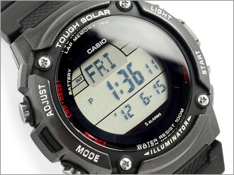 CASIO Casio reimport foreign model SPORTS GEAR sports gear solar mens digital watch black urethane belt W-S200H-1BVCF