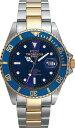 【訳あり:詳】【アウトレット時計】【テクノス】【TECHNOS/テクノス TAM629TN ブルー×ゴールド 10気圧防水 腕時計 メンズ