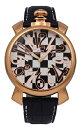【訳あり:A】【アウトレット時計】【正規品】【テクノス】【腕時計】TECHNOS/テクノスT4461PB牛革ベルト3針5気圧防水腕時計メンズチェック柄×ピンクゴールド