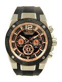 【テクノス】【TECHNOS】【送料無料】【訳あり:A】【アウトレット】【正規品】【腕時計】TECHNOS/テクノス T8A20BH シリコンベルト クロノグラフ 腕時計 メンズ ブラック×ピンクゴールド