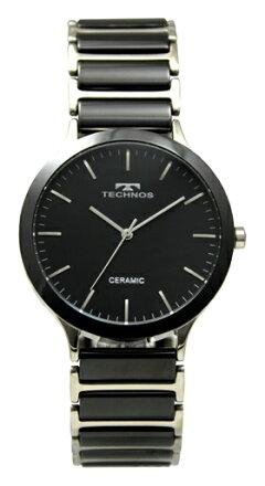 【訳あり:A】【アウトレット時計】【正規品】【テクノス】【腕時計】TECHNOS/テクノスT9516TBセラミックモデル腕時計メンズブラック