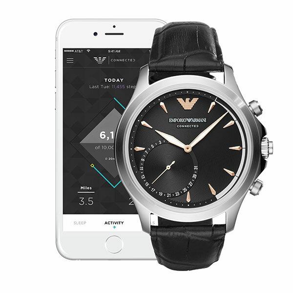 【EMPORIO ARMANI公式2年保証】エンポリオアルマーニ EMPORIO ARMANI コネクテッド スマートウォッチ ウェアラブル 腕時計 メンズ アルベルト ALBERTO ART3013