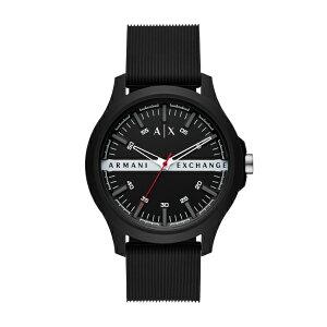 2021 夏の新作 アルマーニ エクスチェンジ 腕時計 アナログ ブラック メンズ ARMANI EXCHANGE 時計 AX2420 HAMPTON ハンプトン 公式 2年 保証