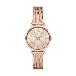2021 夏の新作 エル 腕時計 アナログ ローズゴールド レディース ELLE 時計 ELL25054 CHATELET シャトレ 公式 2年 保証