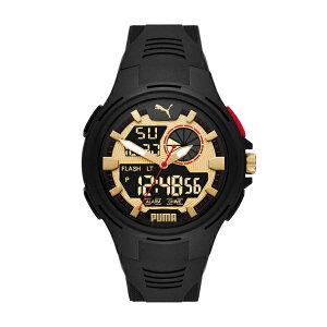 2021 夏の新作 プーマ 腕時計 ブラック デジタル メンズ PUMA 時計 P5078 BOLD ANALOG-DIGITAL ボールド 公式 2年 保証