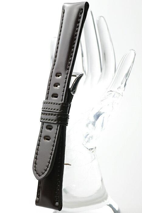XMU078b【厳選こだわり - コードバン】 - 色:チョコ /  ベルト幅:21,22mm