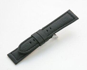 GMC311A4【厳選こだわり - バッファロー・厚手・ステッチ】 - 色:黒/サイズ:18-16mm,20-18mm.22-20mm.24-22mm
