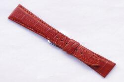 W311k【本格手作り時計ベルト-最高級マットクロコ-色:チョコ/ベルト幅:18mm,20mm奉仕価格