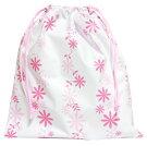巾着フラワー柄ピンク1