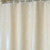 フラワーベージュ遮光バスカーテン1