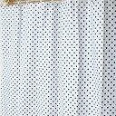 【メール便OK】【防水カーテン】【おしゃれ】【かわいい】ドットカラー シャワーカーテン ホワイト 120×150【日本製】【Sフック付】防水バスカーテン【防カビ】※メール便は1注文につき2枚までOK!【RCP】