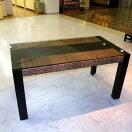 HDT-13 ダイニングテーブル:アジアン家具ウォーターヒヤシンス