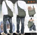 ◇普段使いA.O.T ワンショルダーバッグ!A4サイズ収納可能。体のフィット感があるので動きやすい! E953 【鞄】【かばん】【メンズ】【ショルダーバック】【レディース斜めがけバッグ】【0405_バッグ・小物・ブランド雑貨】