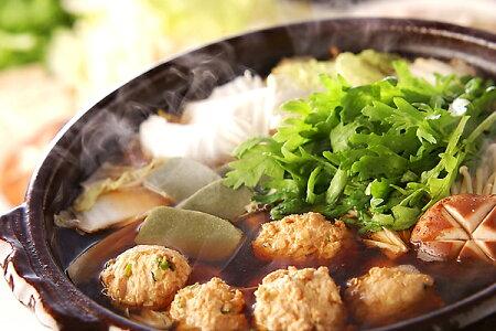 比内地鶏の!極上つみれ鍋特製醤油スープ仕立てお試しセット稲庭うどん付き1000円ポッキリ!送料無料