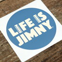 LIFE IS JIMNY ステッカー(丸)103mmΦブルー APIO【アピオ】