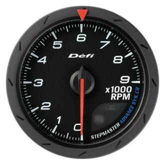 面的連結 (推遲) 先進的 CR 測速儀。 轉速計 60 PI 黑色